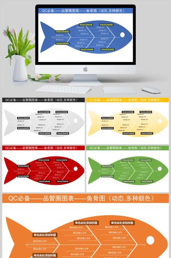 鱼骨图分析图表QC小组活动成果展示