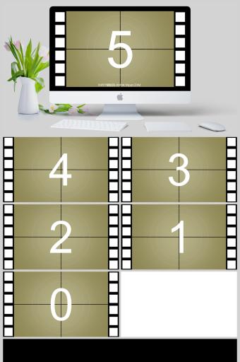 PPT动画下载电影胶片立方体切换视觉5秒倒计时开场PPT特效亚博体育主页