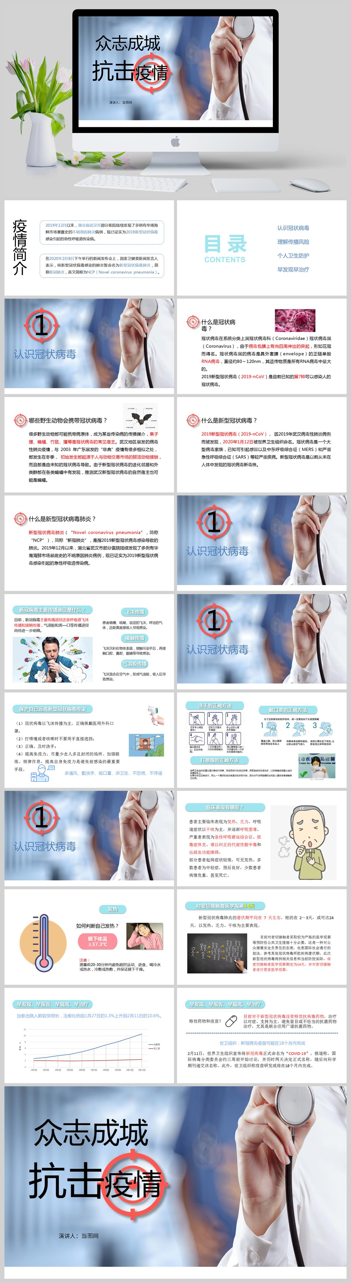 众志成城抗击疫情预防冠状病毒PPT亚博体育主页