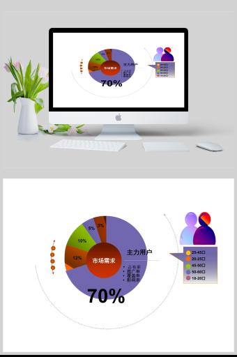 动态数据分析饼状图PPT亚博体育主页
