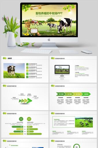 动物农场畜牲养殖奶牛牧场PPT亚博体育主页